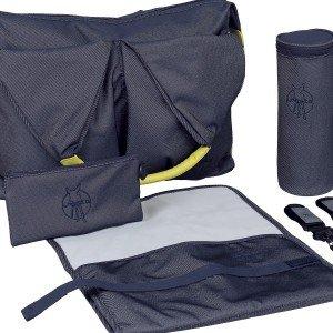 کیف 4 تکه لوازم نوزاد lassig مدل Neckline Bag رنگ denim blue کد LNB664