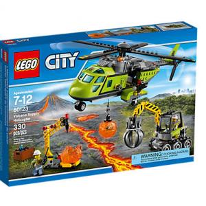 لگو Volcano Supply Helicopter lego کد 60123