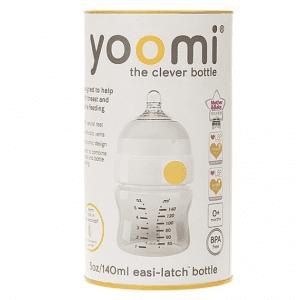 شیشه شیر 140 میل آنتی کولیک زرد Yoomi