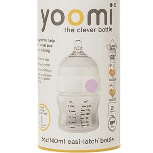 شیشه شیر 140 میل آنتی کولیک صورتی Yoomi