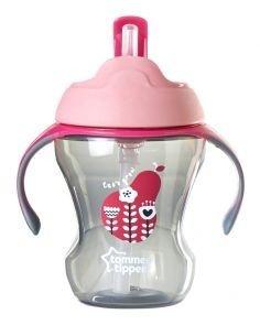 لیوان سوپاپ دار ضد چکه 230 میلEasy Drink Straw Cup 230ML tommeetippee کد 447015