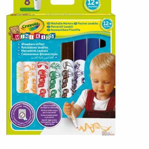 ماژیک قابل شست و شو 8 رنگ کودک crayola کد 8324