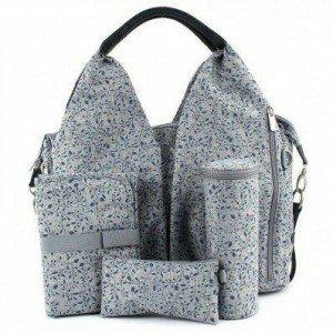 کیف 4 تکه لوازم نوزاد lassig مدل Neckline Bag رنگ Allover Fleur کد LNB601174