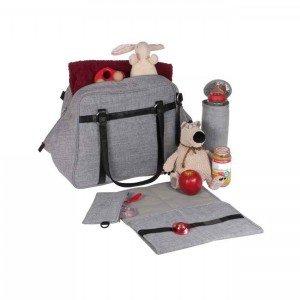 کیف لوازم نوزاد lassig مدل Wickeltasche Urban Bag رنگ طوسی کد LUB601