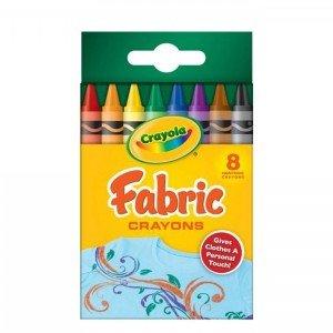 مداد شمعی قابل شست و شو 8 رنگ مخصوص لباس کودک crayola کد 5009