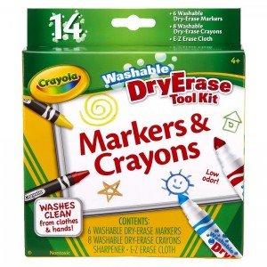 ماژیک قابل شست و شو 14 رنگ دو کاره  crayola کد 8609