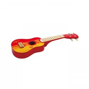 گیتار چوبی کودک Ukuleie red hape 0316