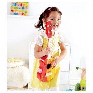 گیتار چوبی کودک Ukuleie red hape 0316 بهترین هدیه برای کودکان