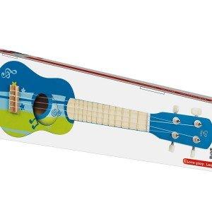 گیتار چوبی کودک Ukuleie blue hape 0317
