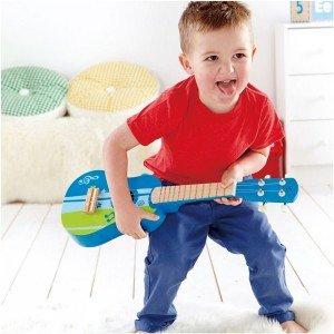 گیتار چوبی کودک مدل Ukulele, blue hape 0317