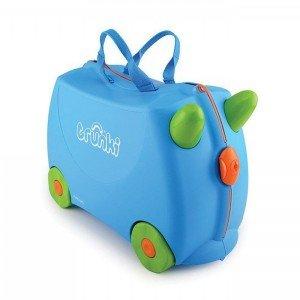 چمدان ترانکی آبی ساده مدل 10054