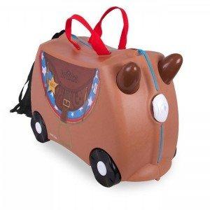 چمدان ترانکی طرح اسب قهوه ای مدل 10183