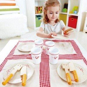 ست ناهار خوری چوبی کودک برند hape کد 3136