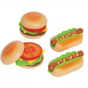 ست ساندویچ چوبی کودک hape مدل Hamburgers & Hotdogs 3112