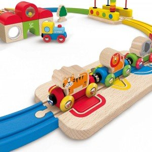 ریل قطار کودک Rainbow Route Railway hape 3816