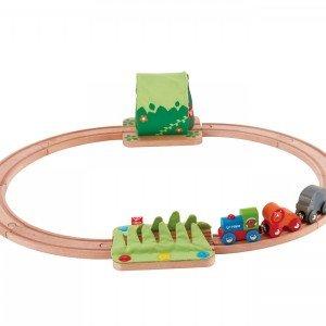 ریل و قطار چوبی کودک Jungle Train Journey Set hape کد 3800