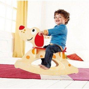 راکر چوبی کودک طرح سگ rock a long puppy ride on hape کد 0103