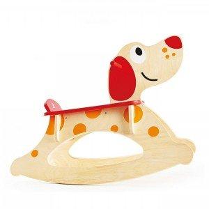 راکر چوبی کودک طرح سگ rock a long puppy ride on hape مدل 0103