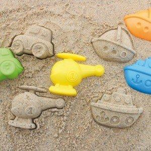 قیمت قالب شن بازی مسافرتی کودک Travel Sand Mold Set hape 4045