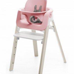 ست کامل صندلی و صندلی غذای stokke steps pink