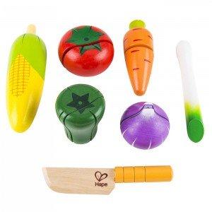 سیفی جات چوبی hape مدل Garden Vegetables 3118