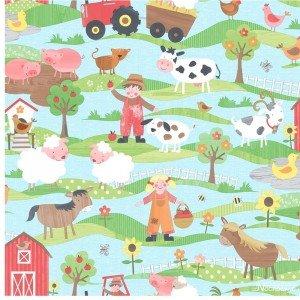 کاغذ دیواری انگلیسی اتاق کودک - تاینی تاتز  G45130 tiny tots
