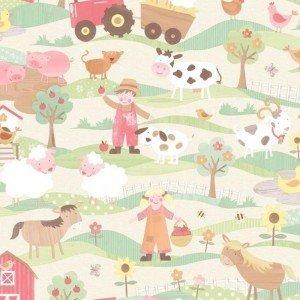 کاغذ دیواری انگلیسی اتاق کودک - تاینی تاتز  G45131 tiny tots