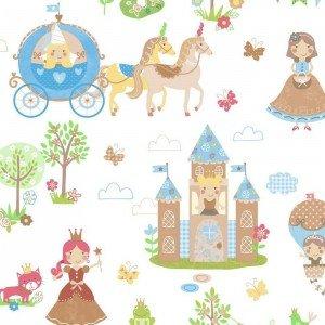 کاغذ دیواری انگلیسی اتاق کودک - تاینی تاتز  G45142 tiny tots