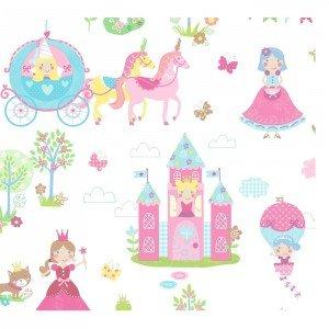 کاغذ دیواری انگلیسی اتاق کودک - تاینی تاتز  G45143 tiny tots