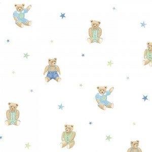 کاغذ دیواری انگلیسی اتاق کودک - تاینی تاتز  G45159 tiny tots