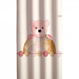پرده اتاق کودک saint clair تدی خرس صورتی کد 115063