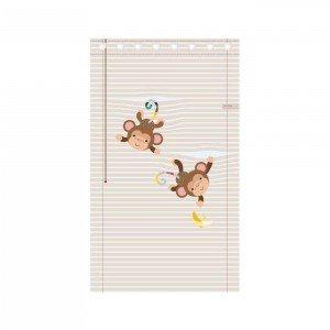 پرده اتاق کودک saint clair طرح میمون بازیگوش کد 115043