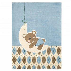 فرش اتاق کودک saint clair طرح خرس تدی آبی کد 90115010