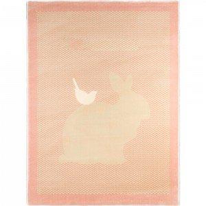 فرش اتاق کودک saint clair طرح  خرگوش صورتی کد 90115033