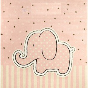 فرش اتاق کودک saint clair طرح فیل صورتی کد 90115004