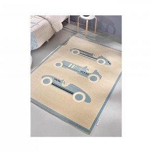 فرش اتاق کودک saint clair طرح ماشین مسابقه کد 90115026