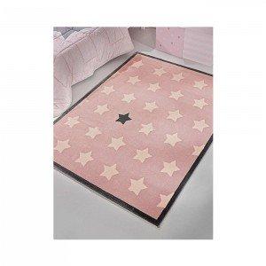 فرش اتاق کودک saint clair طرح ستاره صورتی کد 90216001