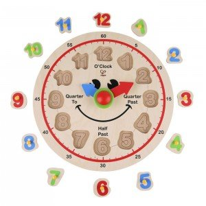 ساعت چوبی کودک happy hour clock hape 1600