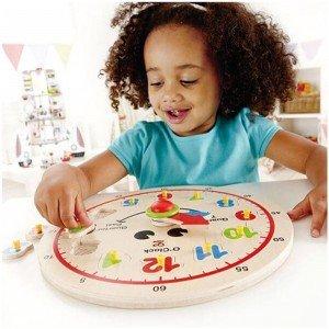 بازی و تفریح با ساعت چوبی کودک happy hour clock hape 1600