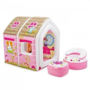 کلبه کودک بادی  با مبل و میز Intex طرح پرنسس کد 48635