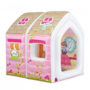 خرید کلبه کودک بادی با مبل و میز Intex طرح پرنسس کد 48635