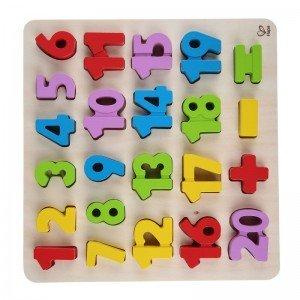 پازل اعداد چوبی numbers puzzle كد1504