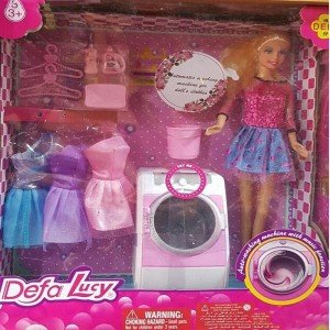 عروسک دفا با ماشین لباسشوئی کد 8323