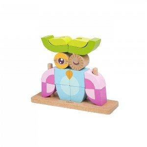 بلوک 14 تکه چوبی classic world مدل Owl Blocks set 3708