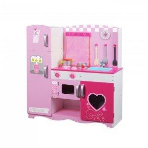 آشپزخانه چوبی Classic World مدل 4119 Pink Kitchen