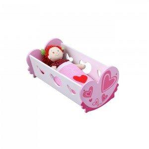 گهواره کودک چوبی world  classic مدل Doll Cradle 2808