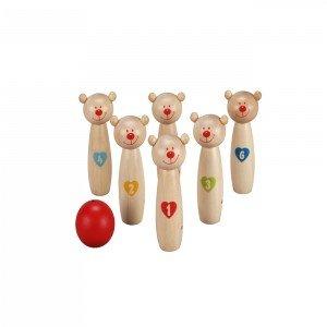 اسباب بازی بولینگ چوبی کودک طرح خرس کوچولو  Classic World مدل Little Bear 4125