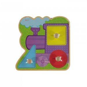 پازل قطار چوبی Classic World مدل Train Infant Puzzle 2068