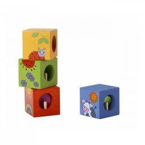 مکعب های زنگدار چوبی Classic World مدل Discovery Cubes with Puzzle 3522