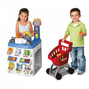 ست کامل سوپر مارکت همراه با چرخ خرید keenway کد31621